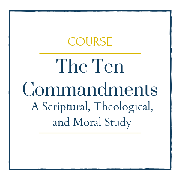 The Ten Commandments: A Scriptural, Theological, and Moral Study